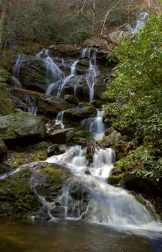 Catawba Falls near Asheville NC - in Pisgah National Forest