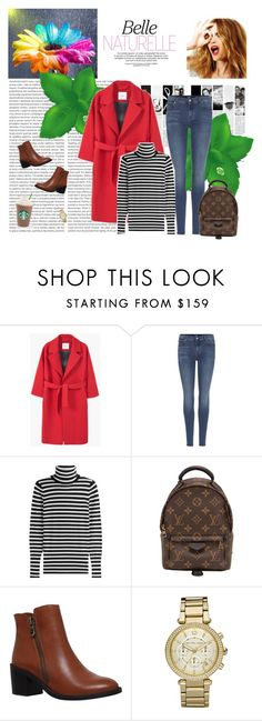 """Senza titolo #4495"" by ladyhysteria ❤ liked on Polyvore featuring Oris, MANGO, 7 For All Mankind, Steffen Schraut, Celestine, Louis Vuitton, Carvela, Michael Kors and Caffé"