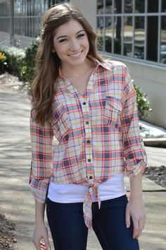 Finish Line Plaid Top – Girly Girl Boutique