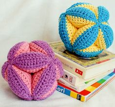 Crochet the perfect gift for baby! The multi-color and dimensional design keeps baby's interest, while the the angular design also allows little hands to easily hold the ball.