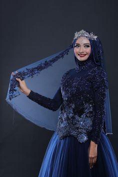 New Arrival by LAKSMI - Kebaya Muslimah & Islamic Wedding Service - 014 Muslimah Wedding Dress, Muslim Wedding Dresses, Muslim Brides, Bridal Dresses, Muslim Women, Bridal Hijab, Hijab Bride, Wedding Hijab, Islamic Fashion