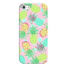 iPhone 6 Plus/6/5/5s/5c Case - Pineapple Pandemonium - Tropical Spring ($35) ❤ liked on Polyvore featuring accessories, tech accessories, iphone case, iphone 5 cover case, iphone cases, iphone 6 case and apple iphone cases