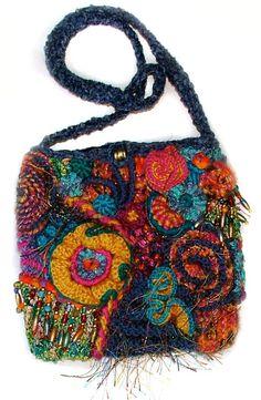 BAGS, PURSES, POUCHES Archive | Renate Kirkpatrick's Freeform Crochet~Knit~Fibre Designs