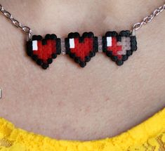 Pearler bead necklace