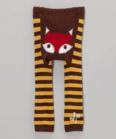 Loving this Brown & Yellow Fox Leggings - Infant on #zulily! #zulilyfinds
