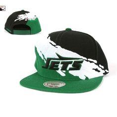 88d2f0cc8 Mitchell   Ness New York Jets Paintbrush Snapback Hat