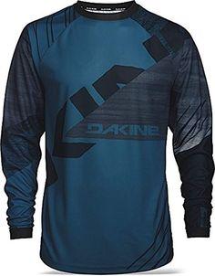 Dakine thrillium DH Downhill mountain bike VTT à manches courtes en jersey bleu Medium
