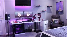 Awesome game room ideas awesome game room ideas video game room ideas for small rooms . Double Monitor Setup, Home Office, Office Desk, Small Game Rooms, Gamer Bedroom, Diy Computer Desk, Computer Workstation, Gaming Computer, Gaming Room Setup