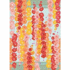 Marigolds Wrapping Paper, inexpensive way to create art. Frame a piece of wrapping paper in the size desired
