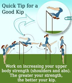 Tip to master the kip in gymnastics