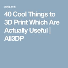 40 Cool Things to 3D Print Which Are Actually Useful | All3DP 3d Printer Projects, Fun Projects, Plague Doctor Mask, Spool Holder, Finding A Hobby, 3d Printing Service, Business Card Case, 3d Prints, Teaching Kids