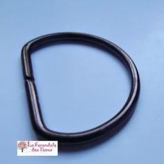 Attache sangle demi anneau D bronze 36mm