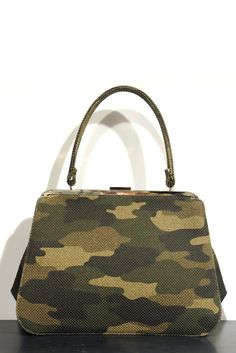 A camouflage canvas bag