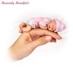 Heavenly Handfuls Collectible Lifelike Miniature Baby Doll Collection