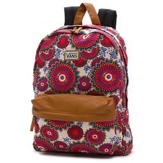 Vans Deana II Floral Backpack (Geo/Floral) from Vans. Shop more products from Vans on Wanelo. One Strap Backpack, Vans Backpack, Floral Backpack, Backpack Bags, Billabong Backpack, Fashion Handbags, Fashion Bags, Fashion Backpack, Vans Logo