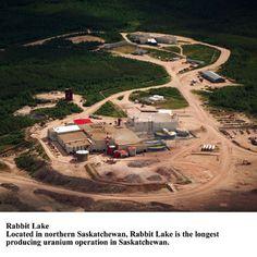 Uranium mine at Rabbit Lake in Northern Saskatchewan.