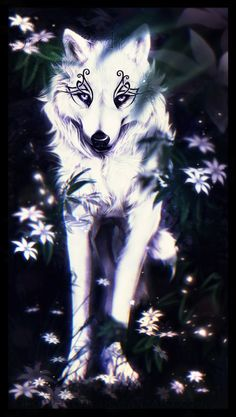 The last star by snow-body anime wolf, the last star, magical paintings Anime Wolf, Wolf Artwork, Fantasy Wolf, Wolf Wallpaper, Black Wallpaper, Mythical Creatures Art, Wolf Love, Wolf Pictures, Beautiful Wolves