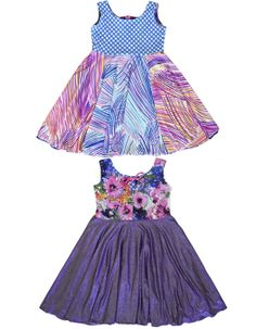 TwirlyGirl Colorful Skirts for Girls Reversible Pink Coral Ombre Pretty Flowers