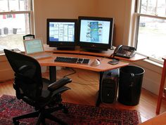 Biomorph Personal Desk with Maple Finish