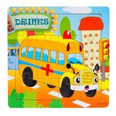 Ambulance Wooden 16 Piece Jigsaw  Puzzle