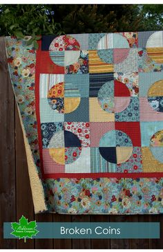 Broken Coins is a stunning quilt that is easy to piece, and looks great when it is finished. It is a great project to create using layer cakes, or scraps from y