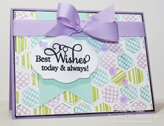 Using the Hexagons, Big Wishes II sets and Fancy Labels 2 from Inspired by Stamping.
