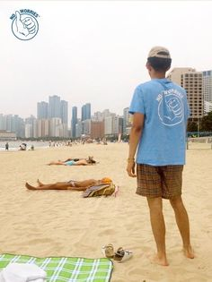 No Worries on the beach in Busan, South Korea. #happyvibes
