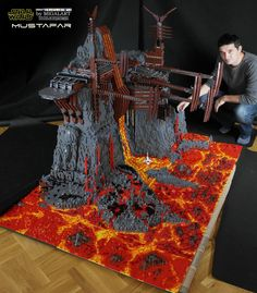 This masterful Lego Mustafar diorama required 60,000 pieces to build - Geek