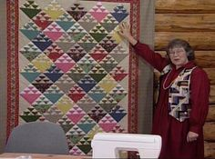 Debra Coates, wife of Quaker abolitionist, directed fugitives simply by the way she turned her quilt blocks. Eleanor has a swift way of directing the Birds in the Air blocks into flight