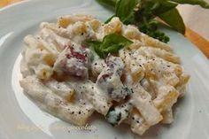La Pasta con la Ricotta e Pancetta,è un primo piatto molto semplice .. La Ricotta,è fondamentale ,perchè dona una cremosità favolosa!!!