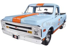 diecastmodelswholesale - 1968 Chevrolet C-10 Pickup Truck Gulf Racing Limited Edition to 954pcs 1/18 Diecast Model Car by Acme , $114.95 (http://www.diecastmodelswholesale.com/1968-chevrolet-c-10-pickup-truck-gulf-racing-limited-edition-to-954pcs-1-18-diecast-model-car-by-acme/)