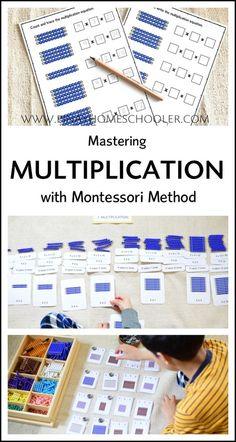 Mastering Multiplication tables with Montessori method #montessori #homeschool #math #printables #elementary #learningmaterials
