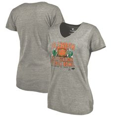 Clemson Tigers Fanatics Branded Women's College Football Playoff 2016 Fiesta Bowl Bound Prime Tri-Blend V-Neck T-Shirt - Heather Gray - $29.99