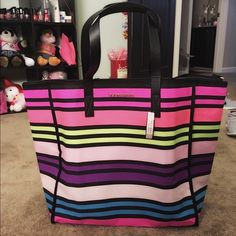 Victoria secret multi color tote bag Brand new with tag Victoria's Secret Bags Totes
