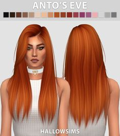Hallow Sims: Anto`s Eve hair retextured - Sims 4 Hairs - http://sims4hairs.com/hallow-sims-antos-eve-hair-retextured/