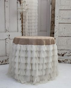 Don't have enough in the budget to get linens for all the tables?  Get one that stands out for the gift table or your sweetheart table.  www.wnycreativewedding.com