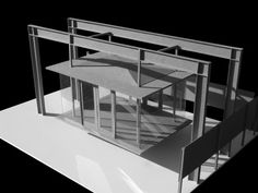 The beautiful model of the TeaHouse by David Jameson Architects. <3