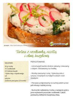 Przepis na Tartine z rzodkiewką, ricottą i oliwą bazyliową