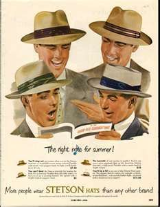 Men's Fedora. I sold a few of the Stetson Fedora's. ALWAYS in style!