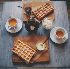 belgian waffles + coffee = the perfect pairing Tasty, Yummy Food, Food Goals, Junk Food, Gelato, Food Inspiration, Love Food, Cravings, Food Photography