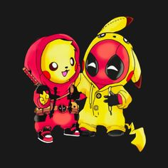 pikachu Pokemon and Deadpool Pikapool T-shirt - Deadpool Dea. - pikachu Pokemon and Deadpool Pikapool T-shirt – Deadpool – T-Shirt Cute Deadpool, Deadpool Pikachu, Deadpool Art, Deadpool Kawaii, Deadpool Tattoo, Deadpool Drawings, Deadpool Quotes, Deadpool Costume, Lady Deadpool