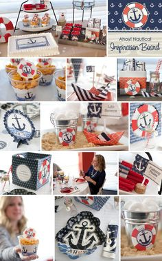 Ahoy! Natucal Party Ideas: DIY Party Supplies and Custom Party Decorations from @BigDotOfHappiness.com #HappyDot