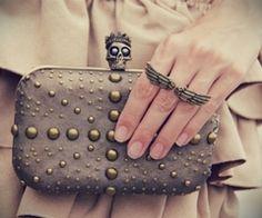 Bag, ring, skull, Alexander Mcqueen