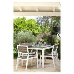 The Harmony Armchair set give you the look of wood without the upkeep or expense. They come pre-assembled and cleanup is a snap, just wipe them down from time to time. Thanks to their hard-wearing weather resistant resin construction these outdoor dining chairs couldn't be easier to maintain. Since they are UV protected and rust-proof, you will never have to worry about rust or decay and they resist weather damage, including fading and whitening in the sun. You can rest easy leaving your ...