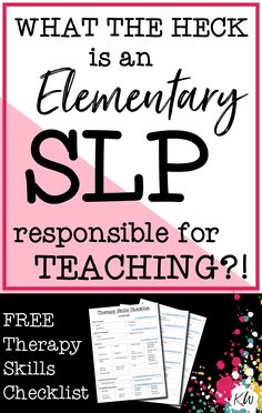 FREE Therapy Skills Checklist for Elementary Speech - Language Pathologists. This Speech Therapy Skills Checklist is like a cheat sheet for SLPs! Speech Pathology, Speech Language Pathology, Speech And Language, Speech Therapy Organization, School Organization, Free Therapy, Therapy Ideas, Play Therapy, Speech Therapy Activities