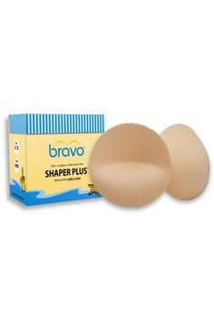 Bravo shaper plus bra pads comes in the color nude and best used for bandeaus and strapless bras. Developed for smaller busts to help fill out the cup and naturally add a cup size. Size of pad is usually for a B/C cup size. May be sewn pinned or placed inside cup.  Shaper-Plus Bra Pad by Bravo Bra Pads. Clothing - Lingerie & Sleepwear - Lingerie Accessories Kansas