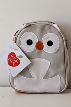 The cutest owl lunch box.  Apple Park.  made from 9 recycled water bottles love it!  and afforadable.