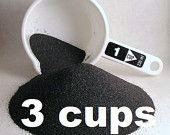 Emery Sand Powder for Pin Cushions - Three Cups - an abrasive that keeps pins sharp - make your own emery pincushions