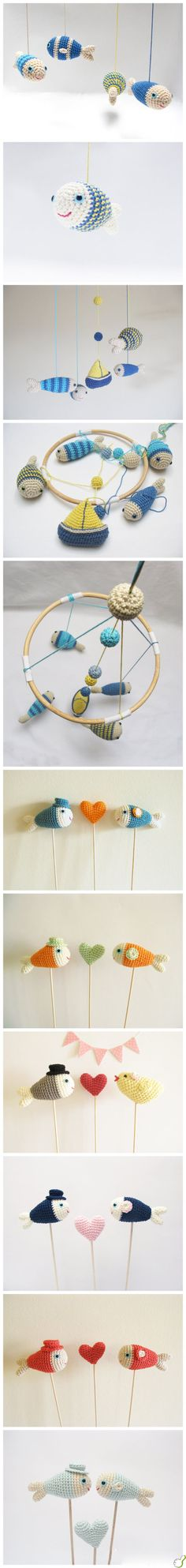 I have no idea how to crochet... but these are **so** cute! They make me want to learn.