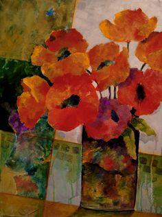 Orange Dream, 24x18 mixed media   by Carol Nelson Fine Art